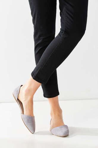 shoes lavender flats cut out shoes