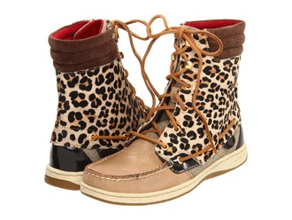 shoes sperrys boots hikerboot leopard