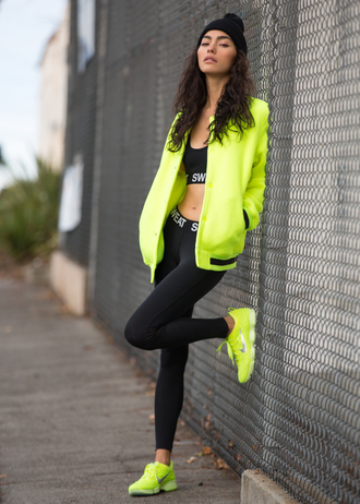 sweat the style blogger hat underwear tights jacket shoes