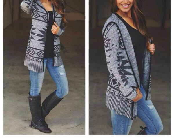 aztec sweater grey