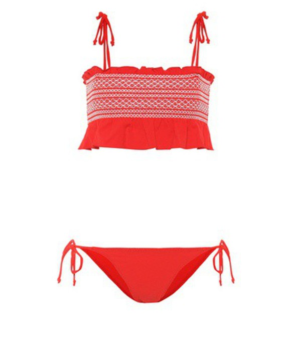 Lisa Marie Fernandez Selena smocked bikini in red