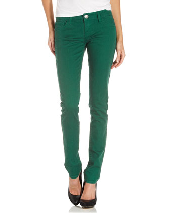 MEK Denim Skinny-Leg Jeans, Emerald - Neiman Marcus Last Call