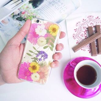 phone cover summer summer handcraft floral cute cool pink daisy gift ideas handmade handcraft iphone 6s iphone 6s plus samsung samsung case art girly coffee floral phone case flowers valentines day gift idea holiday gift mothers day gift idea iphone cover iphone case iphone samsung galaxy cases