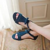 shoes,tassel sandals,tassel,fringes,faux suede,suede learher,blue sandals,leather sandals,fringe shoes