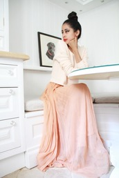 denni,chic muse,maxi,pink dress,dress