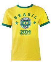 t-shirt,brasilian,brazil,brasil t-shirt,mundial,world cup,world competition,2014,football,futbol,soccer,soccer t-shirt,stars,summer,sporng,happiness,top,yellow,green,winner