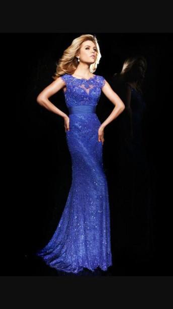 dress blue dress prom dress lace dress mermaid prom dress formal dress