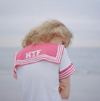 shirt pink kawaii kawaii grunge pale soft pink pastel pastel pink sailor shirt soft grunge white shorts
