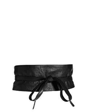 ASOS | ASOS Leather Obi Belt With Tie Detail at ASOS