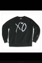 sweater,xo,the weeknd,rnb,black,fashion,blogger,cute,funny,love,peace,happy,smile,style,drake,hip hop,clothes,like,brands,hipster,indie,america,england,music,stylish