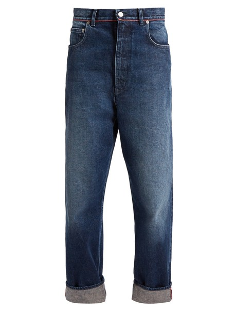 GOLDEN GOOSE DELUXE BRAND jeans cropped jeans cropped high denim dark