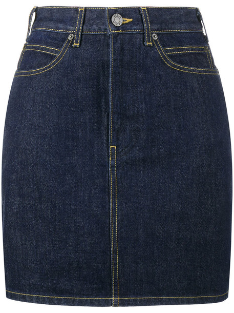 skirt denim skirt denim mini women cotton blue