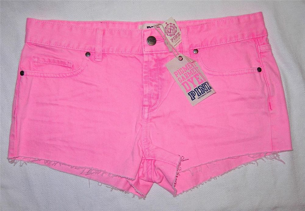 Victoria's Secret Pink Denim 5 Pocket Jean Cut Off Sexy Shorts M 8 RARE New $48 | eBay