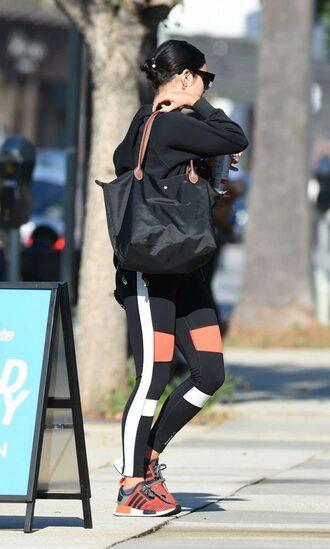 leggings sportswear vanessa hudgens sneakers streetstyle