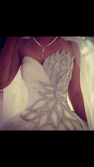 dress wedding glitter silver clothes white dress beautiful wedding dress