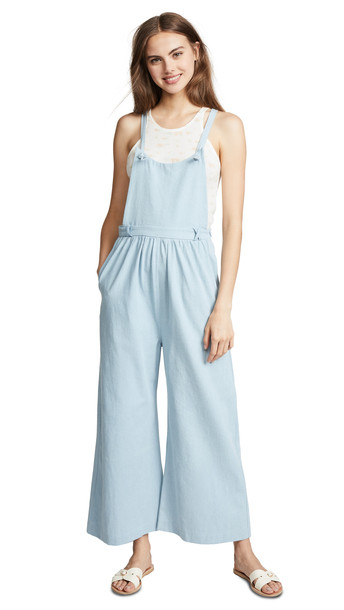 Loup Kate Knot Overalls in indigo