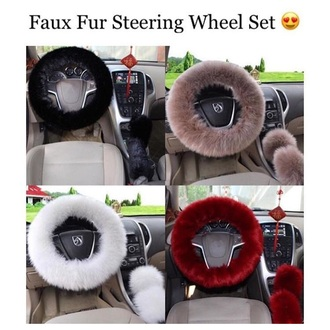 home accessory car faux fur fur red black nude tan taupe white burgundy