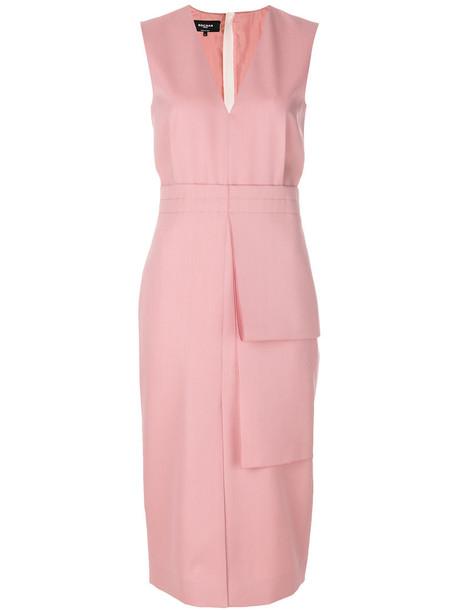 Rochas dress women silk wool purple pink