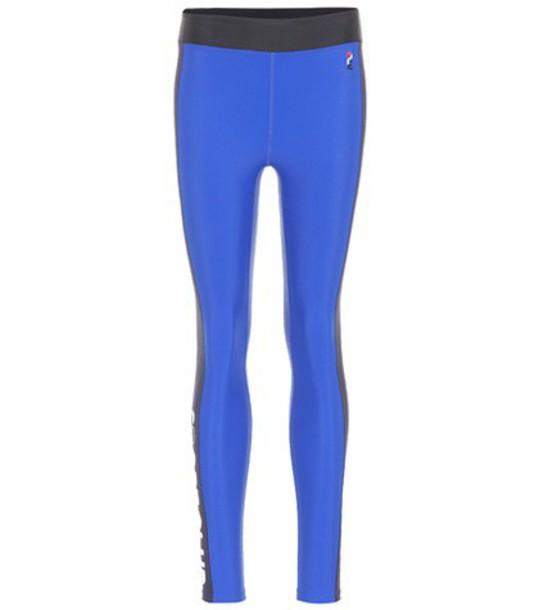 leggings blue pants
