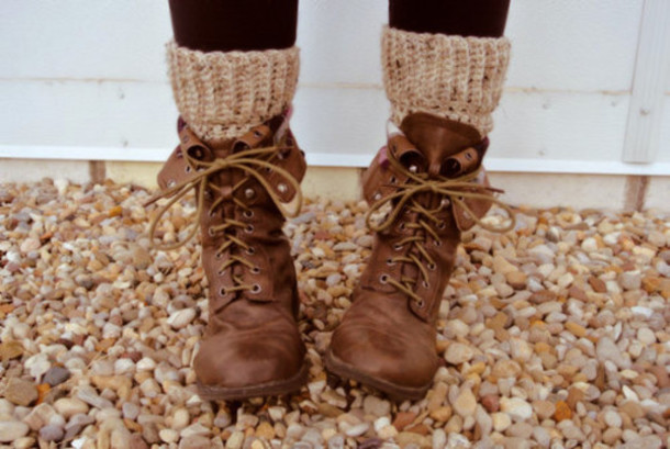 Shoes: boots, socks, lace up, brown, ankle boots, rustic, hippie ...