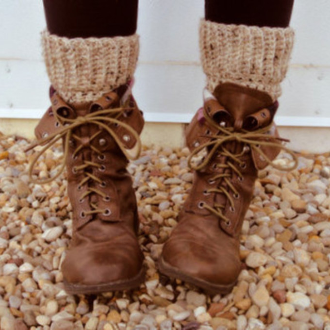 Knitted Boot Socks Women's Long Over The Knee by ThreeBirdNest: Buttons Boots, High Socks