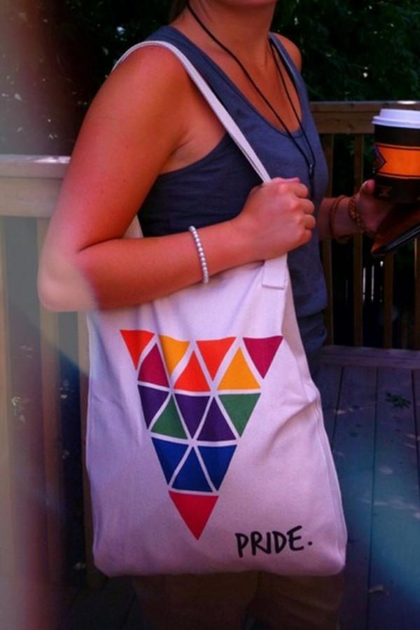 bag lgbt pride rainbow gay pride queer queers lgbt gays tote bag bobo academy colorful