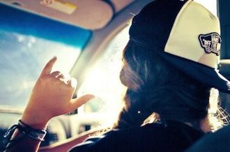 hat withe black snapback vans style swag