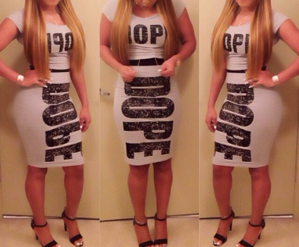 dress grey and black dope