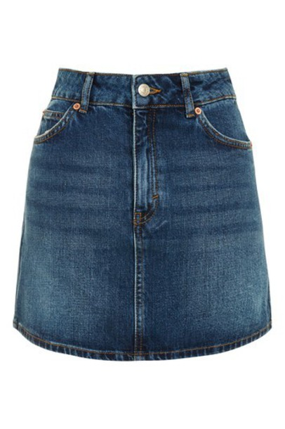 Topshop skirt mini skirt denim mini
