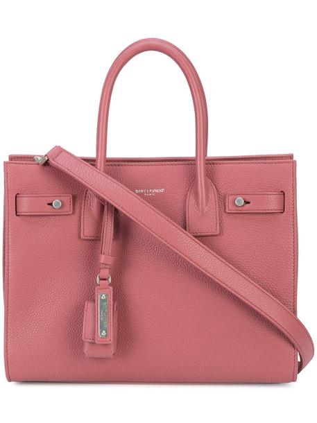 Saint Laurent women bag leather purple pink