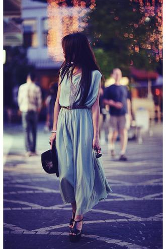 sunglasses jewels dress mint dress purple dress lavender boho chic modern chiffon dress