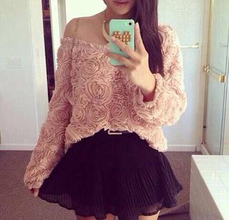 shirt pink flowers
