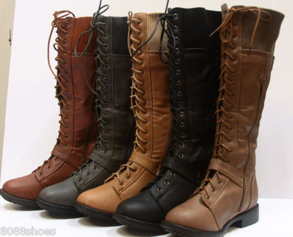 shoes combat boots lace up boots knee high boots leather boots