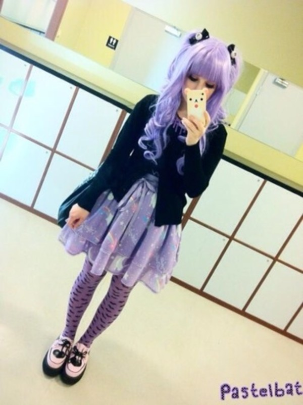 dress pastel goth phone cover skirt pastel goth purple