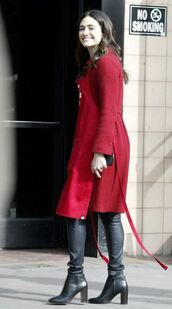 shoes,boots,emmy rossum,coat,fall outfits