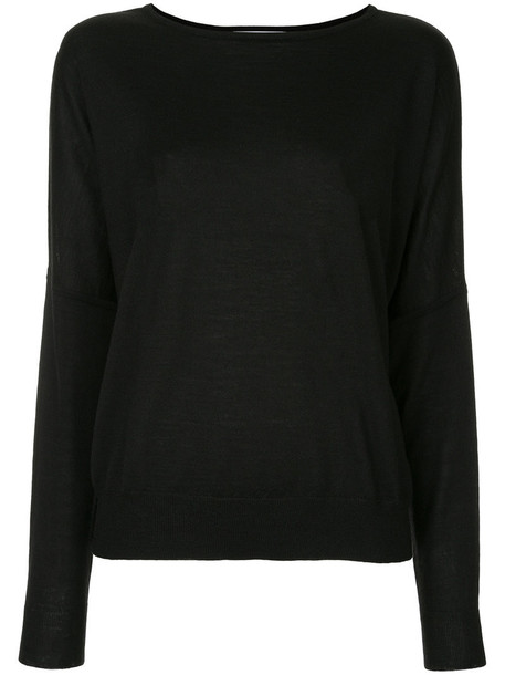 Jean Paul Knott top women black silk wool