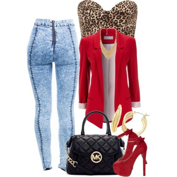 bag michael kors bag jacket blouse jeans jewels