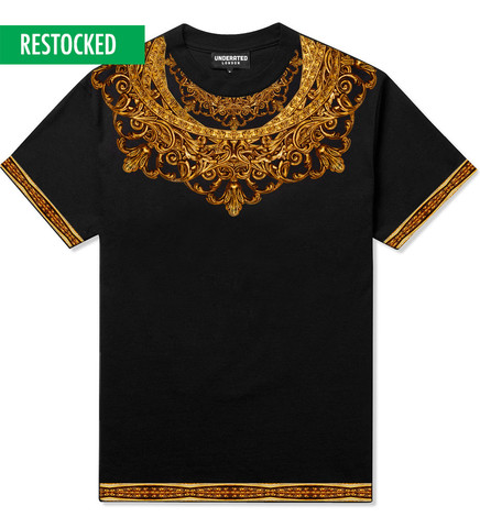 Medallion Yoke Black Tee                           | UNDERATED