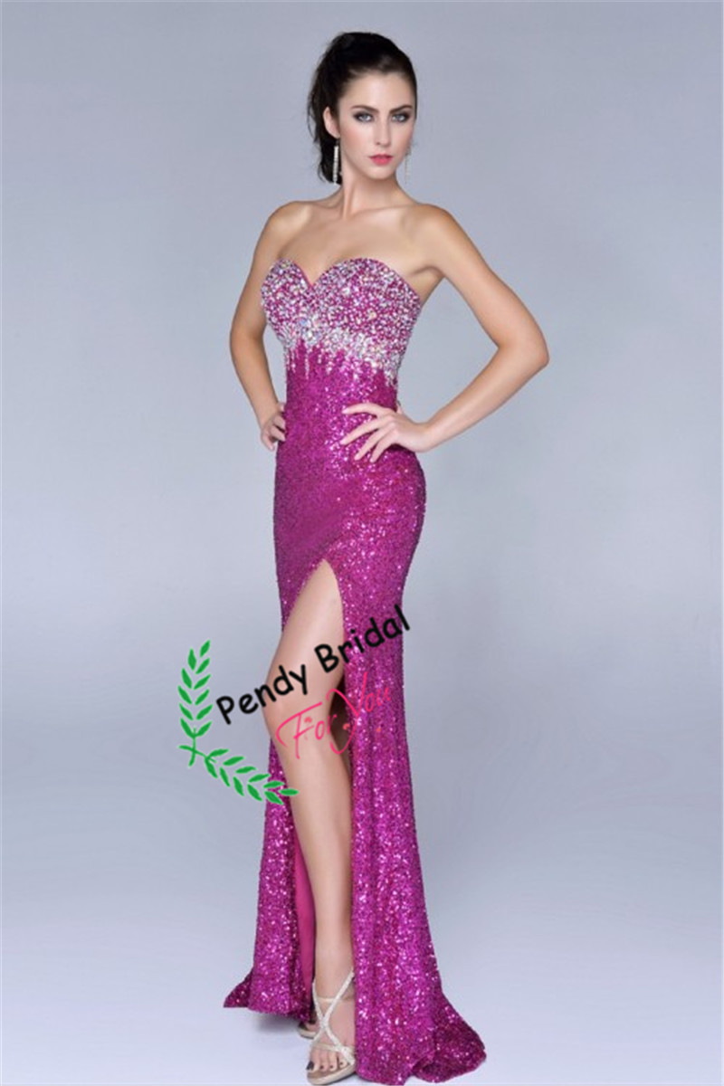 Free Shipping 2014 Sweetheart Beaded Bodice Dress Mermaid Front Slit Black Sequin Prom Dresses great gatsby dress-in Prom Dresses from Apparel & Accessories on Aliexpress.com