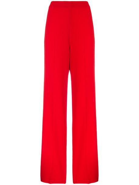 Roland Mouret high women spandex red pants
