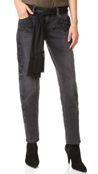jeans baggy jeans black