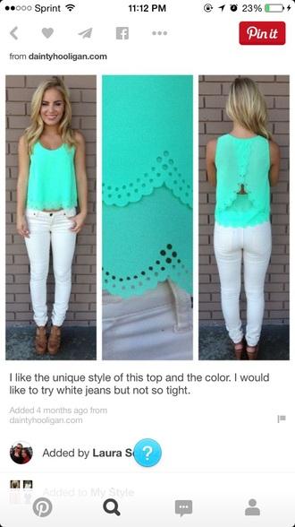 blouse teal top teal summer top top