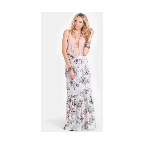 For Love & Lemons Holy Floral Maxi Skirt - Polyvore