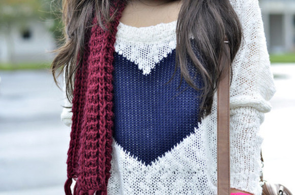 scarf sweater girly cute hipster fashion