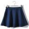 Pleated flare denim navy skirt