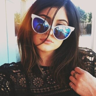 kylie jenner sunglasses white sunglasses