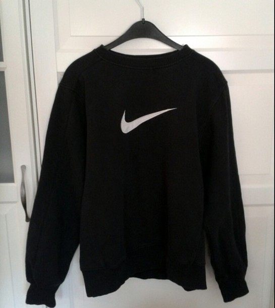 sweater nike pullover hoodie black blackfashion