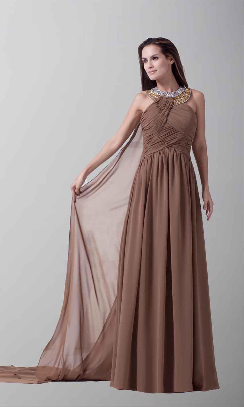 Amazing Halter Sideling Drape Long Evening Dresses KSP220 [KSP220 ...