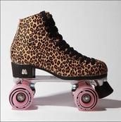 shoes,animal print,roller skates