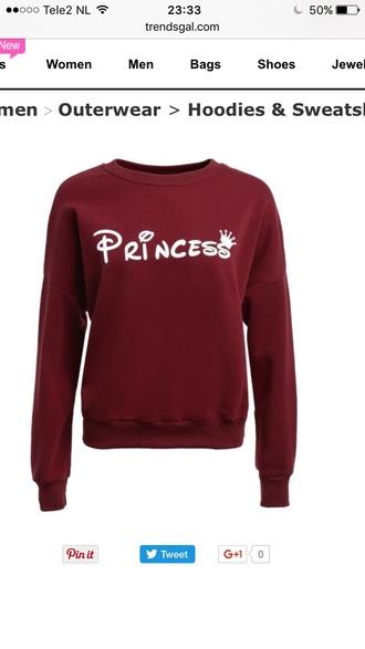 sweater princess burgundy fashion style long sleeves trendy casual trendsgal.com